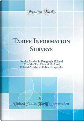 Tariff Information Surveys by United States Tariff Commission