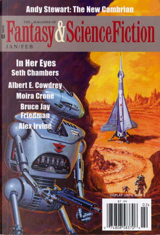The Magazine of Fantasy and Science Fiction, January/February 2014 by Albert E. Cowdrey, Alex Irvine, Andy Stewart, Bruce J. Friedman, C. C. Finlay, Charles De Lint, Claudio Chillemi, David J. Skal, Elizabeth Hand, Lawrence Forbes, Moira Crone, Oliver Buckram, Pat Murphy, Paul Di Filippo, Paul Doherty, Robert Reed, Seth Chambers