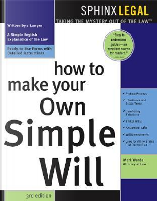 How to Make Your Own Simple Will by Mark Warda