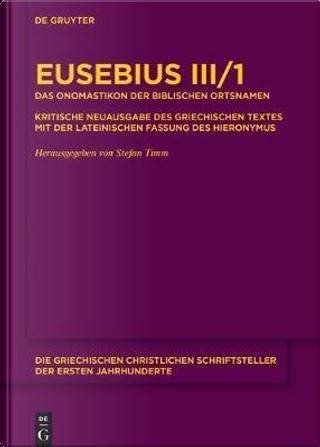 Das Onomastikon Der Biblischen Ortsnamen by Stefan Timm