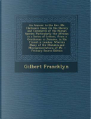An Answer to the REV. Mr. Clarkson's Essay on the Slavery and Commerce of the Human Species by Gilbert Francklyn