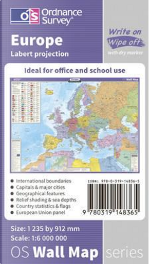 Europe Wall Map (OS Wall Map) by Ordnance Survey