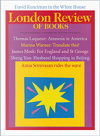The London Review of Books, V. 40, no. 19 (2018, Oct. 11)