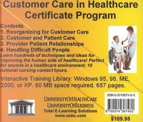 Customer Care in Healthcare Certificate Program by Daniel, M.D. Farb