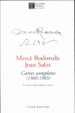 Cartes completes (1960 - 1983) by Joan Sales, Merce Rodoreda