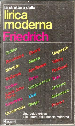 La struttura della lirica moderna by Hugo Friedrich