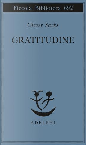 Gratitudine by Oliver Sacks