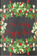 This Is My Happy Place Bright Red Chalkboard Journal by Marissa Kent