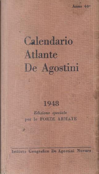 Calendario atlante De Agostini 1948