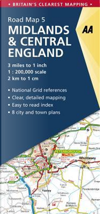 Aa Midlands & Central England Road Map by Automobile Association (Great Britain)