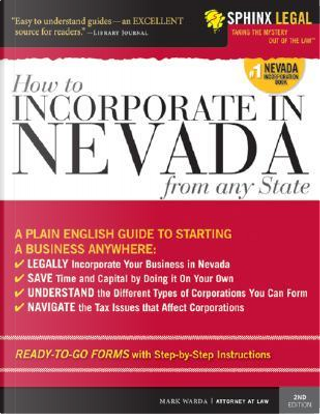 Incorporate in Nevada from Any State by Mark Warda