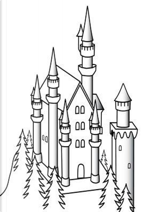 Castle Sketch Black White Fairy Tale Medieval Historical Journal by Distinctive Journals
