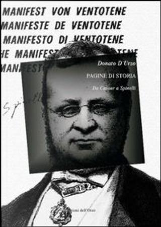 Pagine di storia. Da Cavour a Spinelli by Donato D'Urso