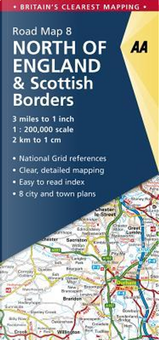 Aa North of England & Scottish Borders Road Map by Automobile Association (Great Britain)