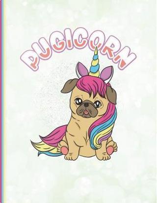 Cute Pugicorn Notebook by SLO Treasures