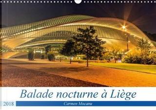 Balade Nocturne a Liege Calendrier Mural 2018 Din A3 Horizon by Mocanu C