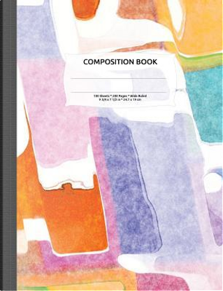 Abstract Watercolor Composition Notebook by Vintage Pen Press