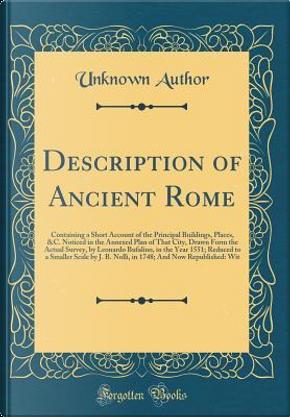 Description of Ancient Rome by Author Unknown