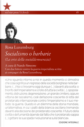 Socialismo o barbarie by Rosa Luxemburg