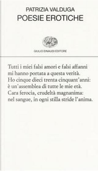 Poesie erotiche by Patrizia Valduga