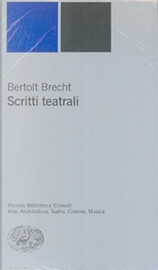Scritti teatrali by Bertolt Brecht