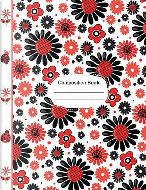 Ladybugs Cute Flowers Hearts Composition Notebook Sketchbook Paper by SLO Treasures
