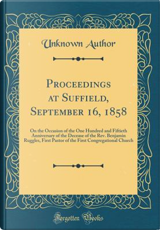Proceedings at Suffield, September 16, 1858 by Author Unknown