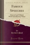 Famous Speeches by Herbert Paul