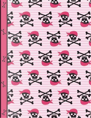 Pirate Girl Skulls and Bones Notebook 4x4 Quad Ruled Paper by SLO Treasures