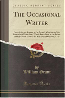 The Occasional Writer by William Grant