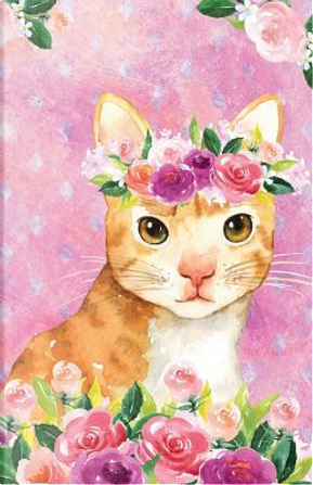 Bullet Journal For Cat Lovers Orange Cat In Flowers by Maz Scales