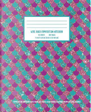 Mermaid Scale Aqua Purple Lavender Composition Notebook by Truly Inspired Publishing