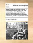 Graecum Lexicon Manuale, Primum a Benjamine Hederico Institutum by Benjamin Hederich
