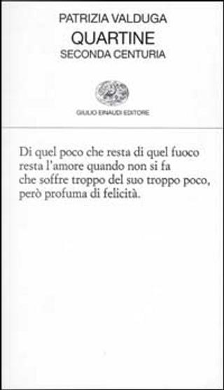 Quartine by Patrizia Valduga
