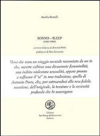 Sonno - Sleep (1953-1966) by Amelia Rosselli