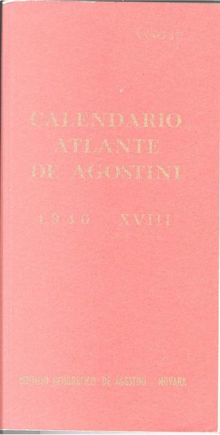 Calendario Atlante De Agostini 1940