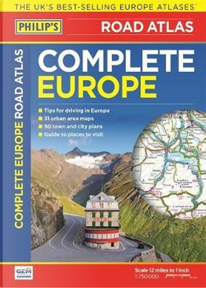 Philip's Complete Road Atlas Europe 2016 by PHILIPS