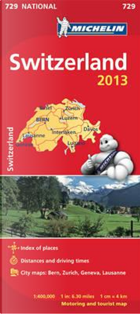 Schweiz 2013 Michelin 729 karta by Michelin