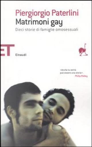 Matrimoni gay by Piergiorgio Paterlini