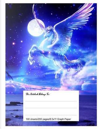Graph Paper Workbook Magical Pegasus by Pea Ridge Publishing