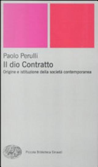 Il dio Contratto by Paolo Perulli