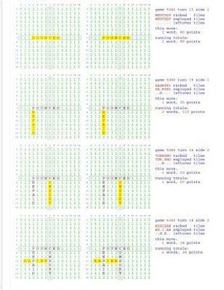Fifty Scrabble Box Scores Games 5351-5400 by Mr Francis Gurtowski