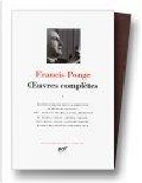 ¦uvres complètes by Francis Ponge