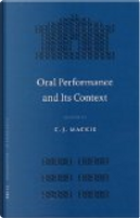 Oral performance and its context by C. J. Mackie