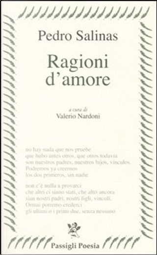 Ragioni d'amore by Pedro Salinas