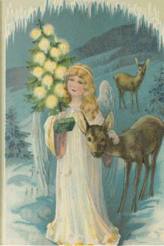 Vintage Angel Deer Snowy Winter Woods Christmas Eve Journal by Distinctive Journals