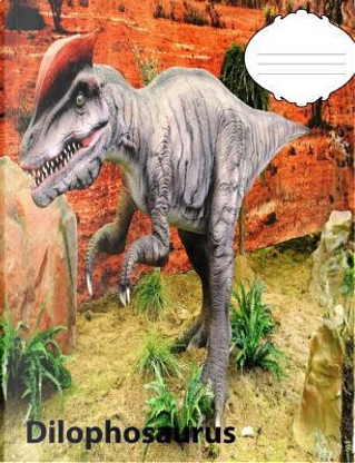 Dilophosaurus Dinosaur Story Story paper Composition Book by Christina Peterson