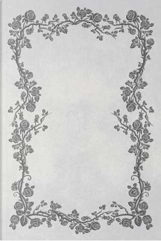White 101 - Blank Notebook With Rose Vines - 6x9 by Legacy