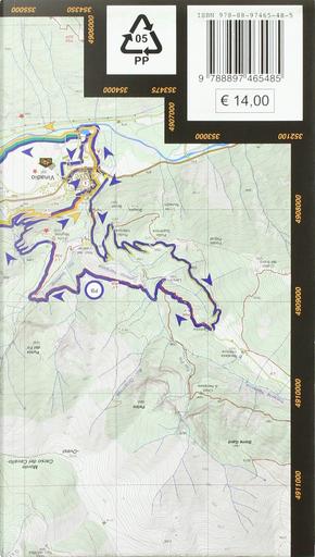 Valle Stura di Demonte. Cartoguida dei percorsi MTB, e-bike 1:25.000