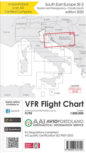 Avioportolano. VFR flight chart SE 2. South East Europe. Croatia south, Bosnia and Herzegovina. ICAO annex 4 - EU-Regulations compliant. Ediz. italiana e inglese by Guido Medici